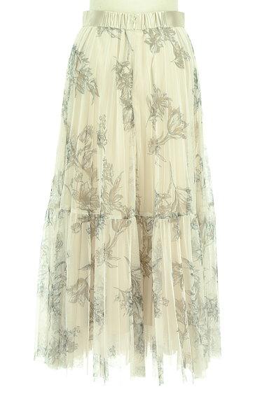 JUSGLITTY(ジャスグリッティー)の古着「花柄ロングチュールプリーツスカート(ロングスカート・マキシスカート)」大画像2へ
