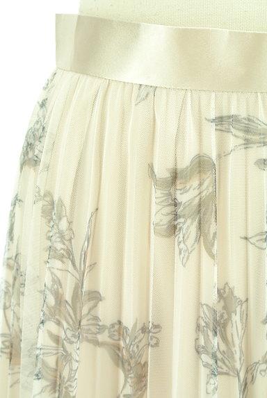 JUSGLITTY(ジャスグリッティー)の古着「花柄ロングチュールプリーツスカート(ロングスカート・マキシスカート)」大画像4へ