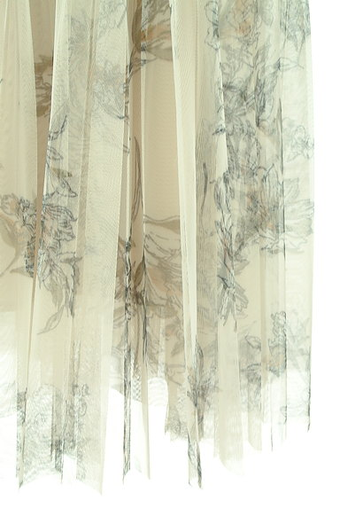 JUSGLITTY(ジャスグリッティー)の古着「花柄ロングチュールプリーツスカート(ロングスカート・マキシスカート)」大画像5へ