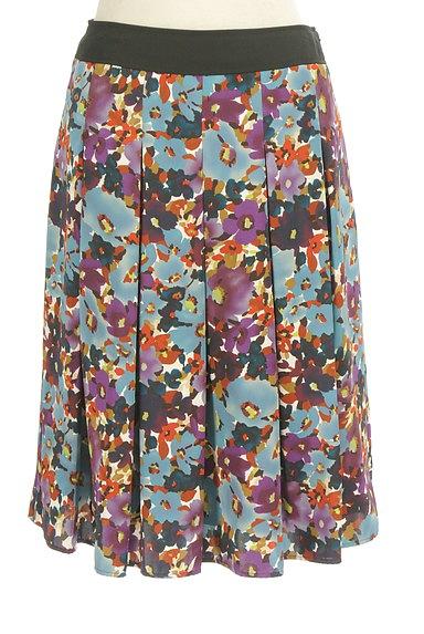 LUI CHANTANT(ルイシャンタン)の古着「花柄タックフレアスカート(スカート)」大画像1へ