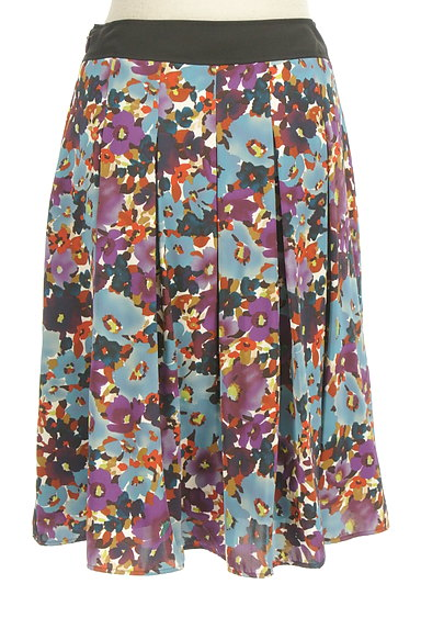 LUI CHANTANT(ルイシャンタン)の古着「花柄タックフレアスカート(スカート)」大画像2へ