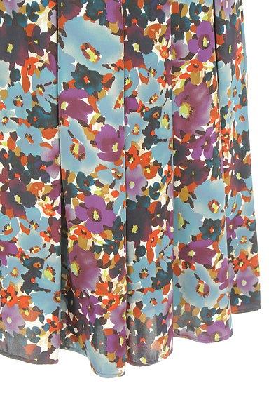 LUI CHANTANT(ルイシャンタン)の古着「花柄タックフレアスカート(スカート)」大画像5へ
