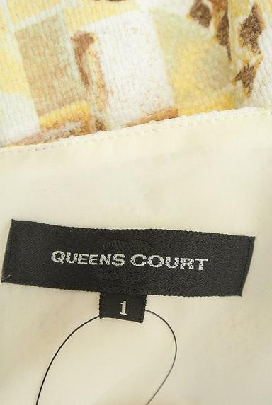 QUEENS COURT(クイーンズコート)の古着「ぼかし総柄タックフレアワンピース(ワンピース・チュニック)」大画像6へ