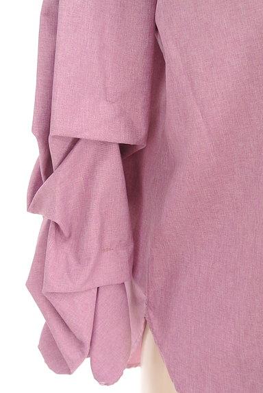 MAYSON GREY(メイソングレイ)の古着「ボリューム袖ラウンドヘムカットソー(ブラウス)」大画像4へ
