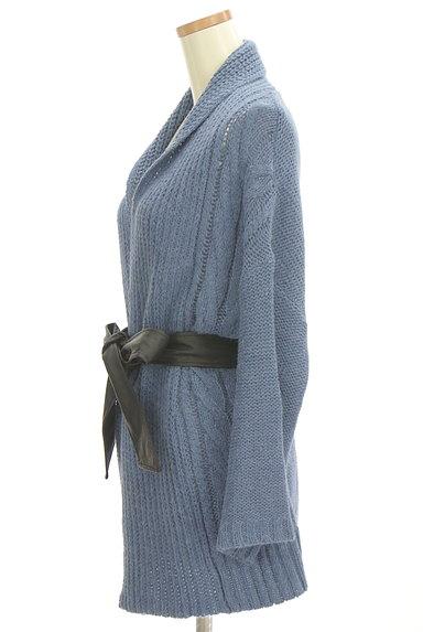 VICKY(ビッキー)の古着「エコレザーベルト付きカーディガン(カーディガン・ボレロ)」大画像3へ