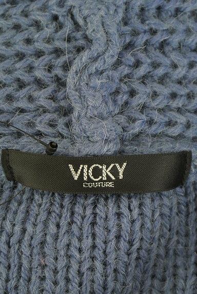 VICKY(ビッキー)の古着「エコレザーベルト付きカーディガン(カーディガン・ボレロ)」大画像6へ