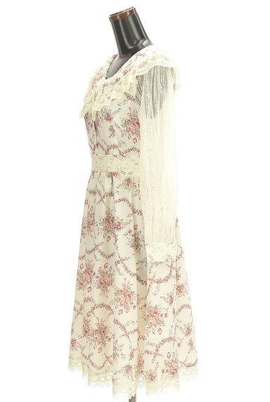 axes femme(アクシーズファム)の古着「レース袖膝下丈花柄ワンピース(ワンピース・チュニック)」大画像3へ