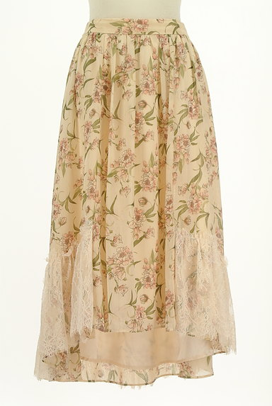 axes femme(アクシーズファム)の古着「花柄フィッシュテールシフォンスカート(ロングスカート・マキシスカート)」大画像1へ
