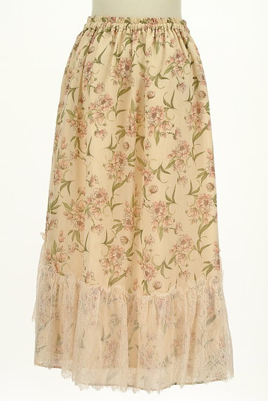 axes femme(アクシーズファム)の古着「花柄フィッシュテールシフォンスカート(ロングスカート・マキシスカート)」大画像2へ