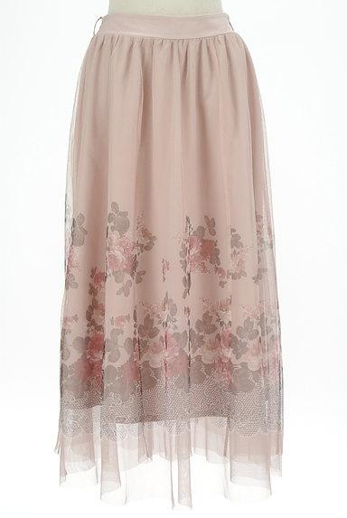 axes femme(アクシーズファム)の古着「花柄プリントチュールロングスカート(ロングスカート・マキシスカート)」大画像1へ