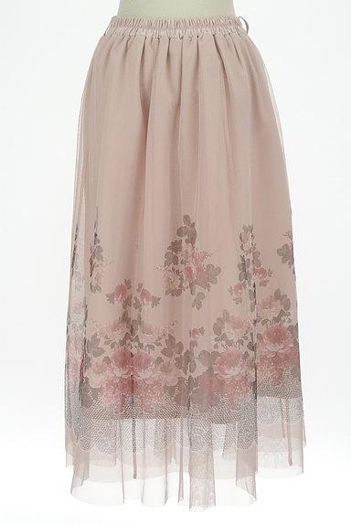 axes femme(アクシーズファム)の古着「花柄プリントチュールロングスカート(ロングスカート・マキシスカート)」大画像2へ