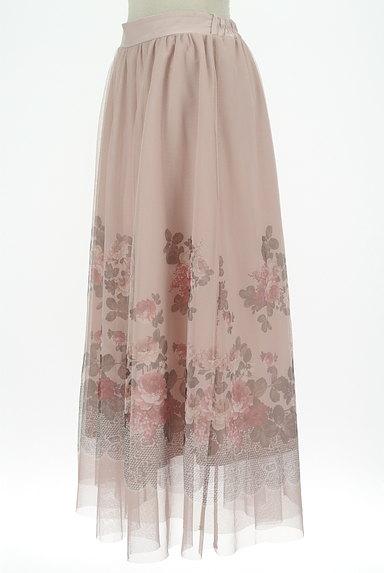 axes femme(アクシーズファム)の古着「花柄プリントチュールロングスカート(ロングスカート・マキシスカート)」大画像3へ