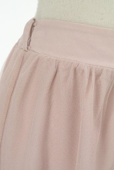 axes femme(アクシーズファム)の古着「花柄プリントチュールロングスカート(ロングスカート・マキシスカート)」大画像4へ