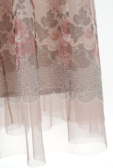 axes femme(アクシーズファム)の古着「花柄プリントチュールロングスカート(ロングスカート・マキシスカート)」大画像5へ