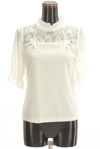 axes femme(アクシーズファム)の古着「花刺繍入りシフォン袖カットソー(カットソー・プルオーバー)」大画像1へ