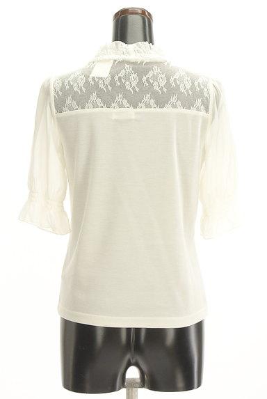axes femme(アクシーズファム)の古着「花刺繍入りシフォン袖カットソー(カットソー・プルオーバー)」大画像2へ