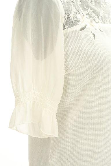 axes femme(アクシーズファム)の古着「花刺繍入りシフォン袖カットソー(カットソー・プルオーバー)」大画像5へ