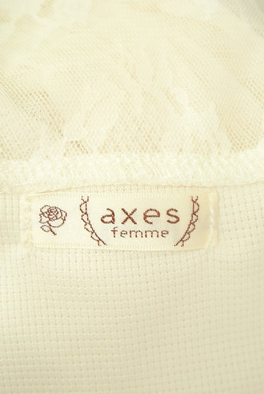 axes femme(アクシーズファム)の古着「花刺繍入りシフォン袖カットソー(カットソー・プルオーバー)」大画像6へ