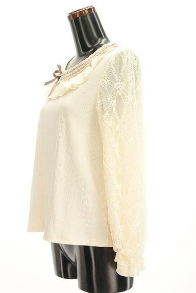 axes femme(アクシーズファム)の古着「ガーリーフリルカットソー(カットソー・プルオーバー)」大画像3へ