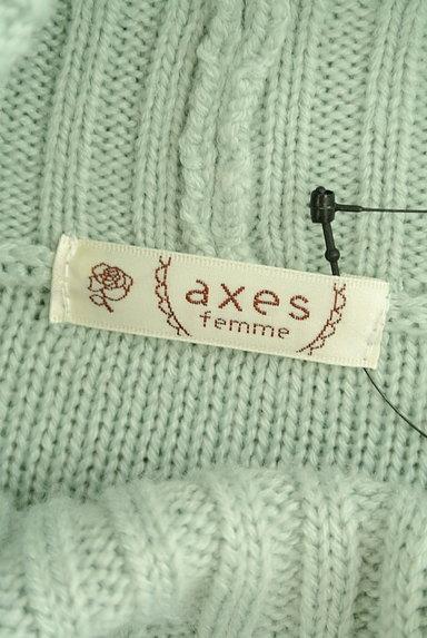axes femme(アクシーズファム)の古着「パールボタン付タートルケーブルニット(ニット)」大画像6へ