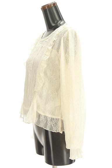 axes femme(アクシーズファム)の古着「刺繍入り総レースフリルカットソー(カットソー・プルオーバー)」大画像3へ