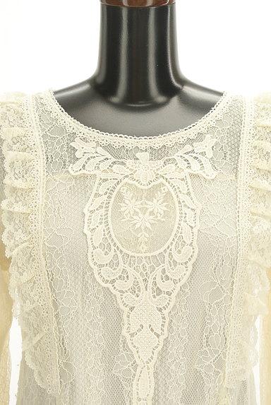 axes femme(アクシーズファム)の古着「刺繍入り総レースフリルカットソー(カットソー・プルオーバー)」大画像4へ