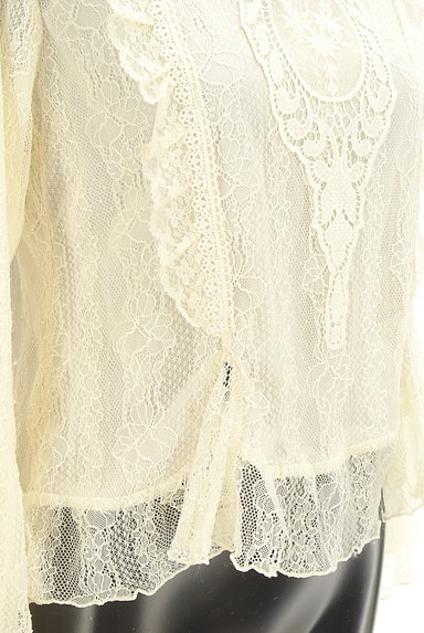 axes femme(アクシーズファム)の古着「刺繍入り総レースフリルカットソー(カットソー・プルオーバー)」大画像5へ