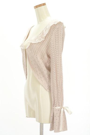 axes femme(アクシーズファム)の古着「チュール襟ワンボタンカーディガン(カーディガン・ボレロ)」大画像3へ