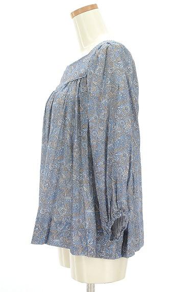Cloth&Cross(クロス&クロス)の古着「小花ペイズリーギャザーカットソー(カットソー・プルオーバー)」大画像3へ