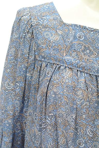 Cloth&Cross(クロス&クロス)の古着「小花ペイズリーギャザーカットソー(カットソー・プルオーバー)」大画像4へ