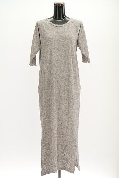 Cloth&Cross(クロス&クロス)の古着「7分袖サイドスリットマキシワンピ(ワンピース・チュニック)」大画像1へ