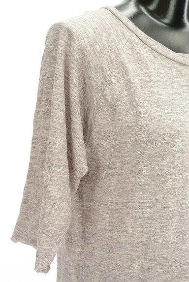 Cloth&Cross(クロス&クロス)の古着「7分袖サイドスリットマキシワンピ(ワンピース・チュニック)」大画像4へ