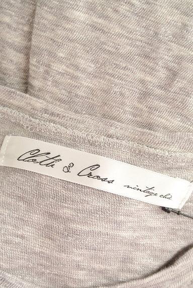 Cloth&Cross(クロス&クロス)の古着「7分袖サイドスリットマキシワンピ(ワンピース・チュニック)」大画像6へ