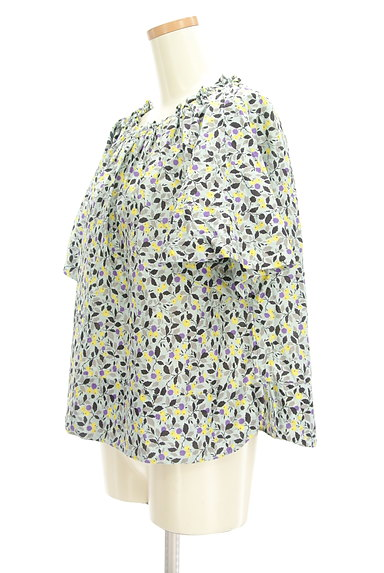 Hug o war(ハグオーワー)の古着「小花柄スモックカットソー(カットソー・プルオーバー)」大画像3へ