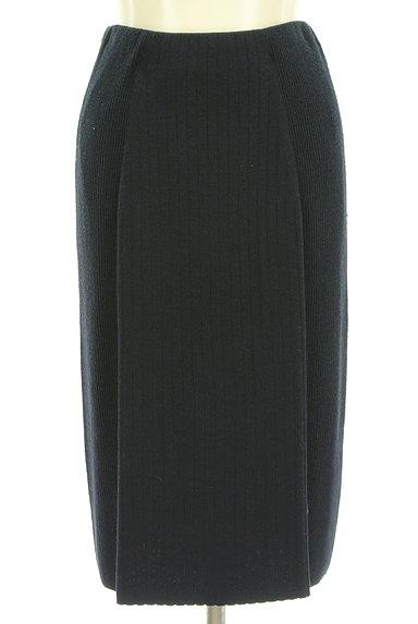 NATURAL BEAUTY BASIC(ナチュラルビューティベーシック)の古着「リブニットセットアップ(セットアップ(ジャケット+スカート))」大画像4へ