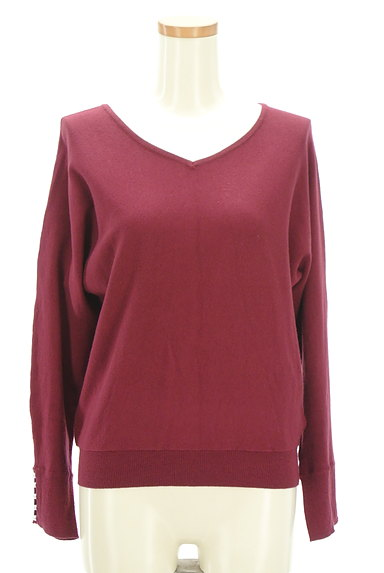 Couture Brooch(クチュールブローチ)の古着「袖パールバックリボンニット(ニット)」大画像1へ