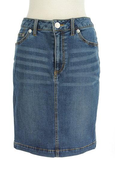 X-girl(エックスガール)の古着「膝上丈デニムタイトスカート(スカート)」大画像1へ