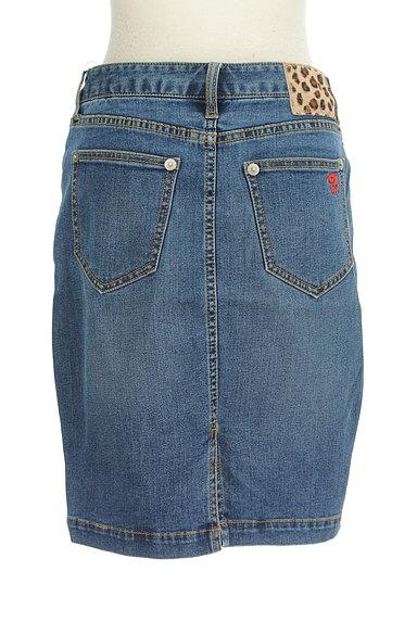 X-girl(エックスガール)の古着「膝上丈デニムタイトスカート(スカート)」大画像2へ