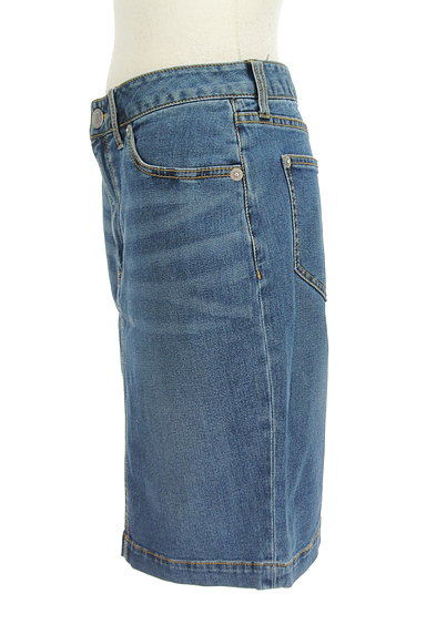 X-girl(エックスガール)の古着「膝上丈デニムタイトスカート(スカート)」大画像3へ