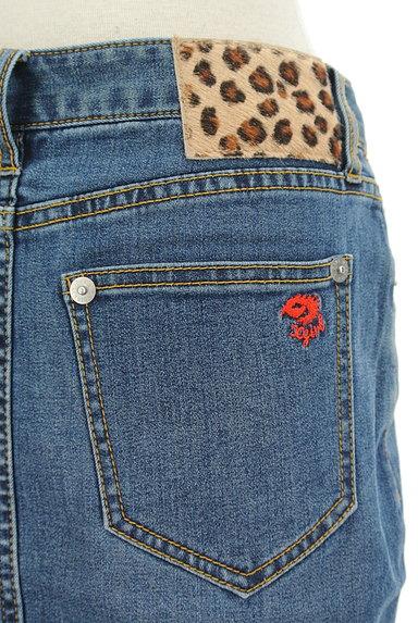X-girl(エックスガール)の古着「膝上丈デニムタイトスカート(スカート)」大画像4へ