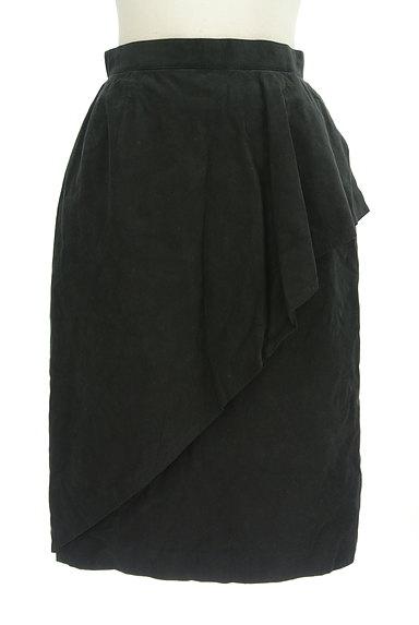 LEILIAN(レリアン)の古着「スウェード斜めフリル膝下丈スカート(スカート)」大画像1へ