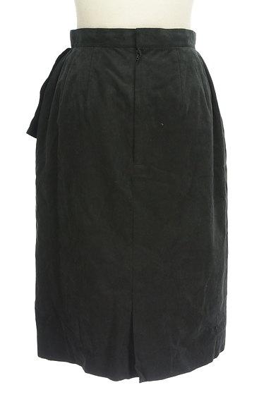 LEILIAN(レリアン)の古着「スウェード斜めフリル膝下丈スカート(スカート)」大画像2へ
