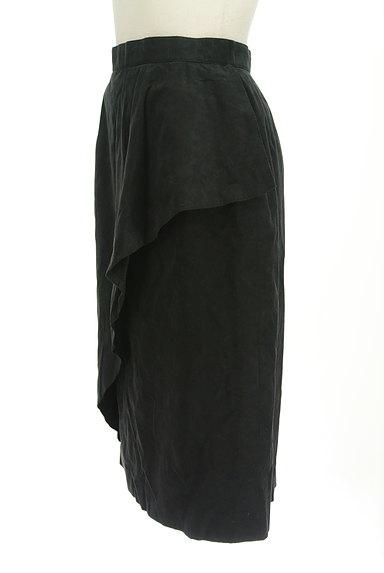 LEILIAN(レリアン)の古着「スウェード斜めフリル膝下丈スカート(スカート)」大画像3へ
