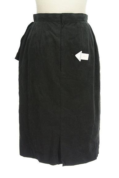 LEILIAN(レリアン)の古着「スウェード斜めフリル膝下丈スカート(スカート)」大画像4へ