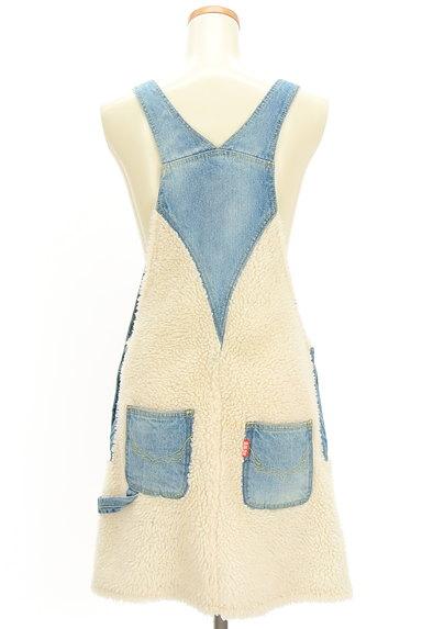 RODEO CROWNS(ロデオクラウン)の古着「デニム×ボアサロペットスカート(オーバーオール・サロペット)」大画像2へ
