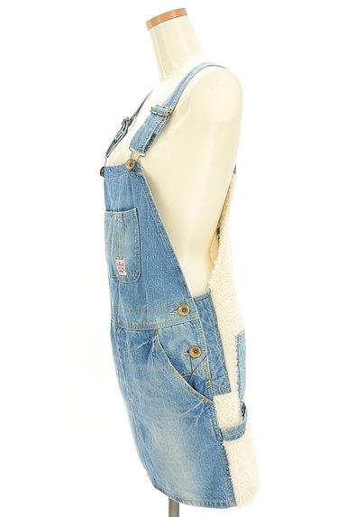 RODEO CROWNS(ロデオクラウン)の古着「デニム×ボアサロペットスカート(オーバーオール・サロペット)」大画像3へ