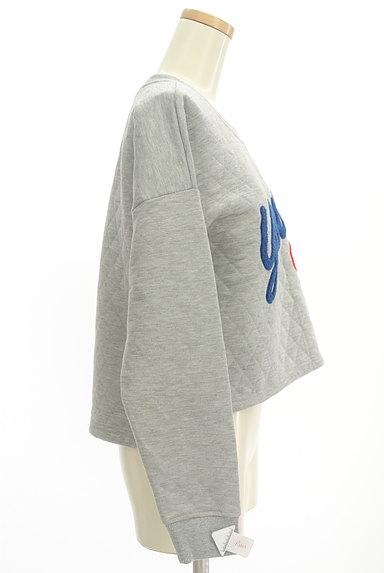 RODEO CROWNS(ロデオクラウン)の古着「ロゴ刺繍キルティングスウェット(スウェット・パーカー)」大画像4へ