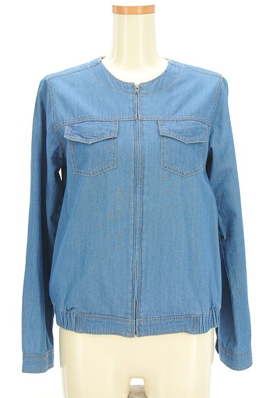 SM2(サマンサモスモス)の古着「ノーカラーデニムジャケット(ジャケット)」大画像1へ
