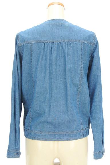 SM2(サマンサモスモス)の古着「ノーカラーデニムジャケット(ジャケット)」大画像2へ