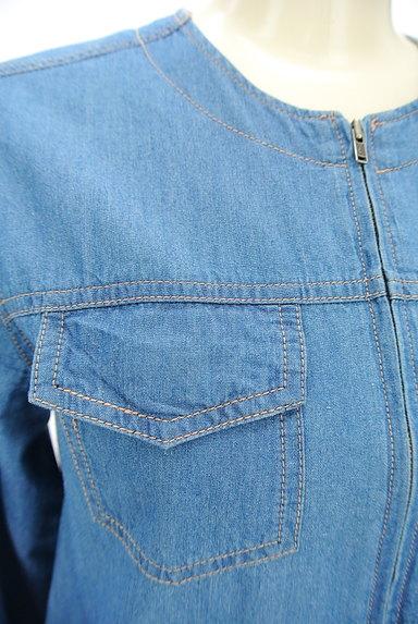 SM2(サマンサモスモス)の古着「ノーカラーデニムジャケット(ジャケット)」大画像4へ